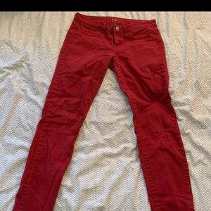 Red Toyko darling Aeropostale jeggings